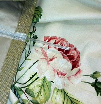 Римская штора с фиксированными складками